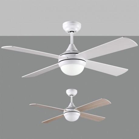 Ventilador de techo Raki blanco ACB  iluminacion