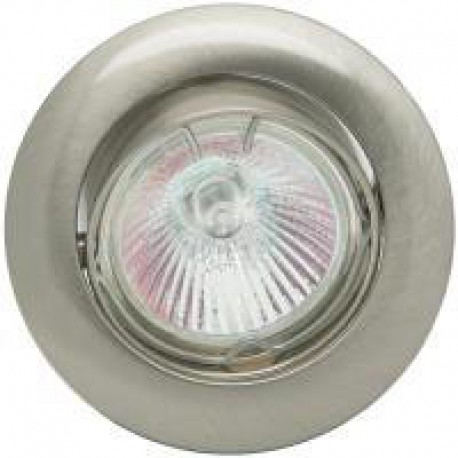 Foco downlight  redondo color blanco/niquel mate