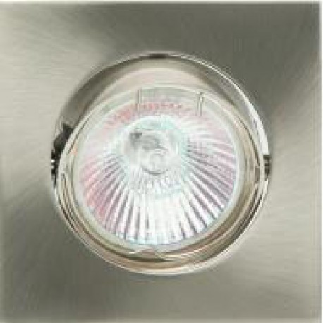Foco downlight  cuadrado color blanco/niquel mate