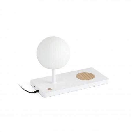 Lámpara sobremesa blanca NIKO LED 7V 3000K de Faro