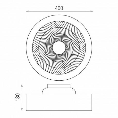 Ventilador de techo Levante Fumé/Opal ACB Iluminacion