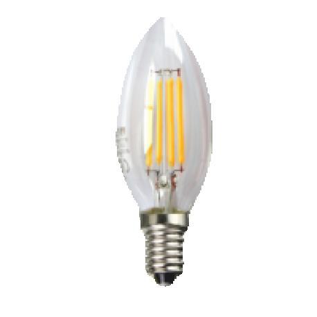 Bombilla LED FILAMENTO vela transparente 4w e14 Silver Sanz