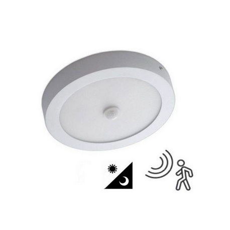 Plafón LED Superficie circular 20W con Det. de Mov.