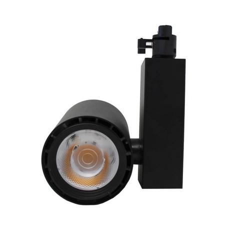 Foco LED 40W BERLIN Negro para Carril Monofásico 24º CRI +90