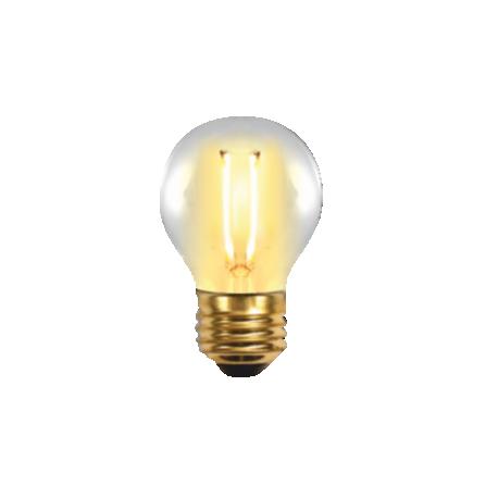 Bombilla LED FILAMENTO  Esférica Edison 2W E27 Silver Sanz