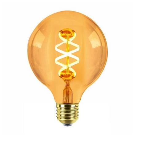 LED Filamento Regulable Espiral Globo Edison Silver Sanz