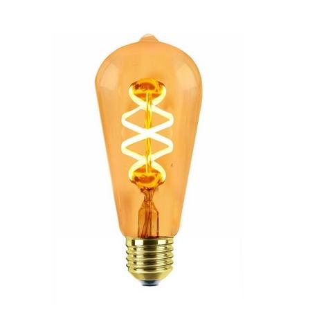 LED Filamento Regulable Espiral Pera Edison Silver Sanz