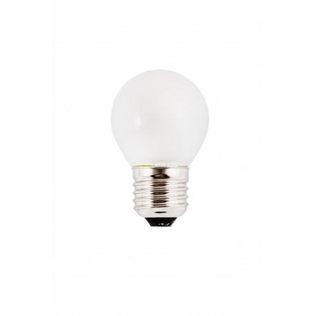 Bombilla LED FILAMENTO Esférica Mate 3W E27 Silver Sanz