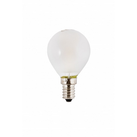 Bombilla LED Filamento Esférica Mate 3W E14 Silver Sanz