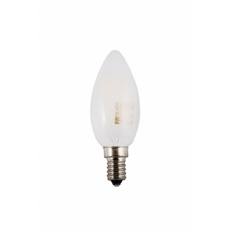 Bombilla LED FILAMENTO Vela Mate 3W E14 Silver Sanz