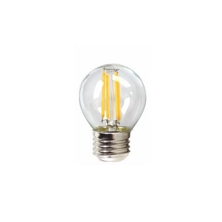 Bombilla LED FILAMENTO Esférica Transparente 4W E27 Silver Sanz