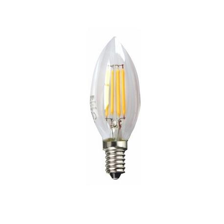 LED Filamento Vela Transparente 5000K Silver Sanz