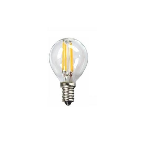 Bombilla LED FILAMENTO Regulable Esférica 4W E14 Silver Sanz
