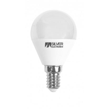 Bombilla LED Regulable Esférica SI 5W E14 Silver Sanz