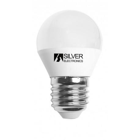 Bombilla LED Esférica SI E27 5W Regulable Silver Sanz
