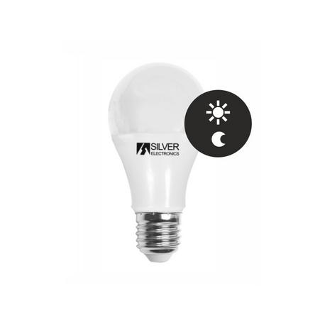 Bombilla LED ESTANDAR con Sensor Dia/Noche 10W E27 Silver Sanz