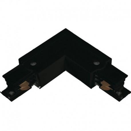 Conector en L TK derecha Negro-Blanco Roblan