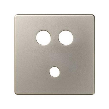 Placa para conector mini-jack + 2RCA