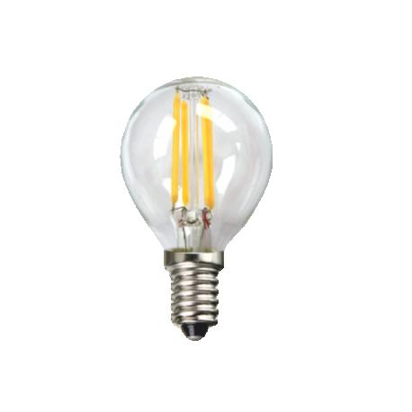 Bombilla LED ECO FILAMENTO Transparente Esferica 4W E14
