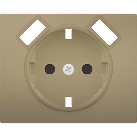 TAPA BASE ENCHUFE SEGURIDAD 2 USB BRONCE NIEBLA