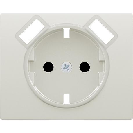 TAPA BASE ENCHUFE SEGURIDAD 2 USB BLANCO SATIN