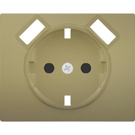 TAPA BASE ENCHUFE SEGURIDAD 2 USB DORADO MALTA