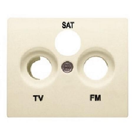 TAPA TOMA R/TV-SAT (3 SALIDAS), BEIGE