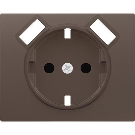 TAPA BASE ENCHUFE SEGURIDAD 2 USB CHOCOLATE