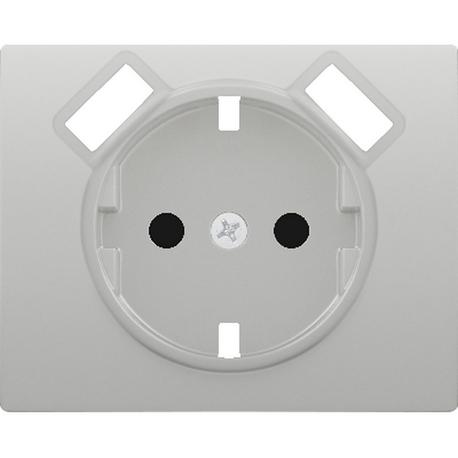 TAPA BASE ENCHUFE SEGURIDAD 2 USB ALUMINIO MERC.
