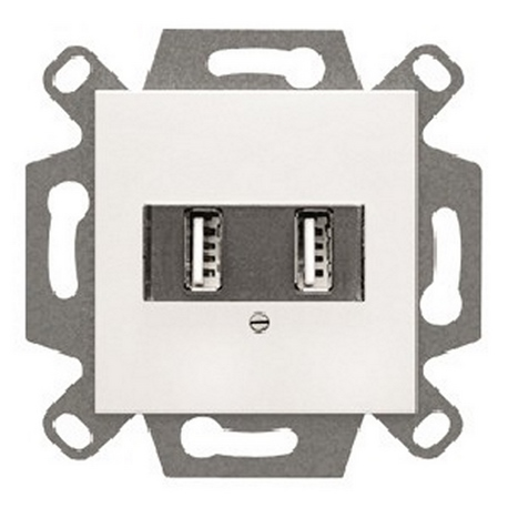 VIVA,CARGADOR USB DOBLE 2100mA,BLANCO