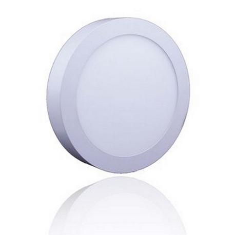 Foco Downlight LED Superficie Redondo 6W ARO Blanco Roblan