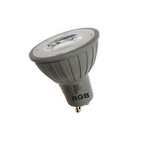 Dicroica LED GU10 GREY 7W SMD 220V 560Lm 35grados NEUTRO