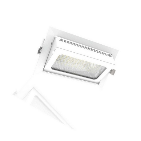 Downlight LED Basculante Rectangular  35W Roblan