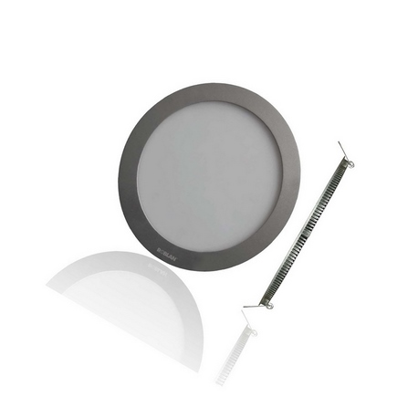 Downlight LED Circular de Roblan 12W 4000K (ARO CROMO MATE)