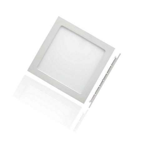 Foco Downlight Slim LED Cuadrado 12W Aro  Blanco Roblan