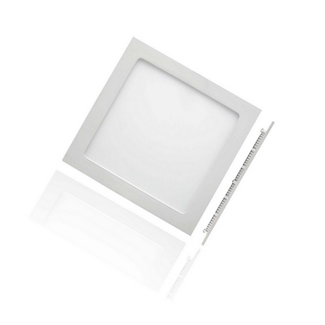 Foco Downlight Slim LED Cuadrado 12W Aro Nickel Satin Roblan