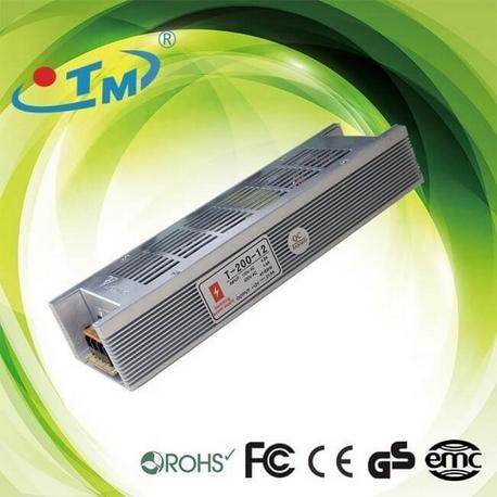 Fuente Alimentación 12V 200W Aluminio IP20