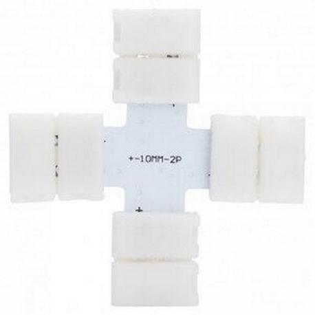 Conector de presión para tira LED monocromática cruz